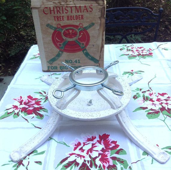 Vintage Mid-Century Metal Christmas Tree by TheVintageStable