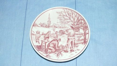 Buy Pin Plate - Red Delft - Oude Molen Fabriek B.V.for R55.00