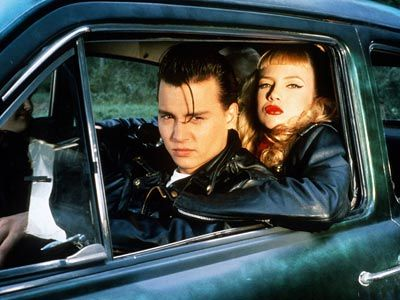 Cry-Baby: Kiss me! Kiss me hard.   Allison: I've never given a French kiss before.   Cry-Baby: Watch, it's easy. You just open your mouth, and I open mine, and we wiggle our tongues together. And it feels real sexy.   Allison: I won't get mononucleosis, will I?