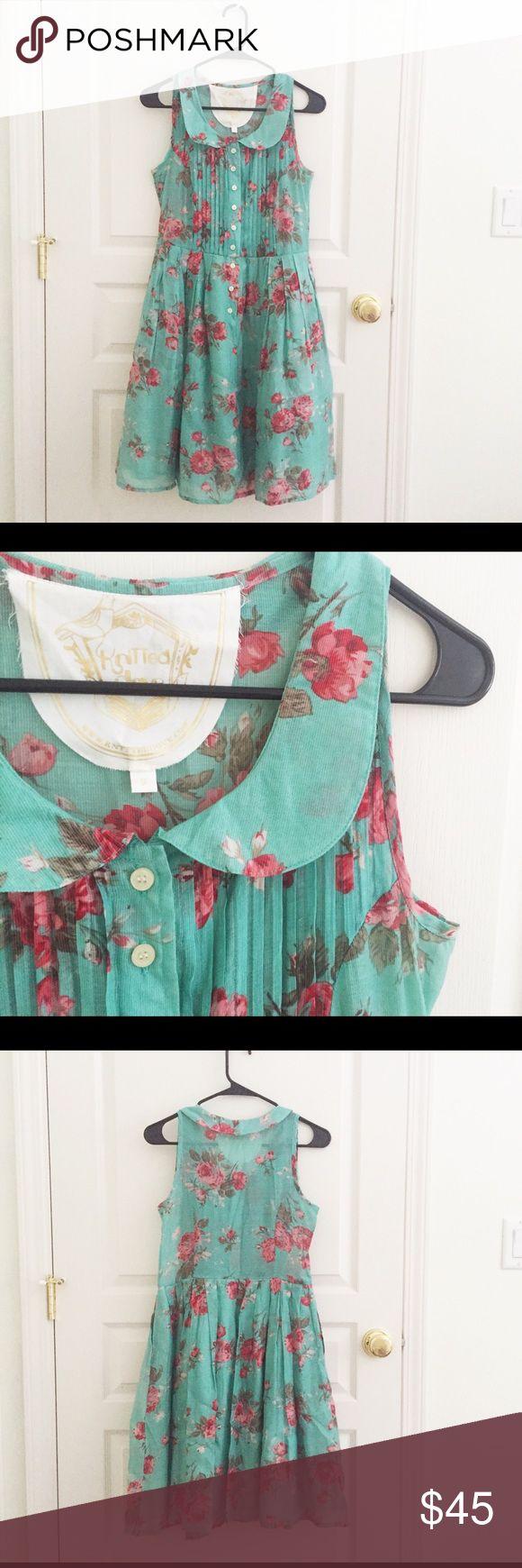 Selling this Modcloth floral sleeveless Peter Pan collar dress on Poshmark! My username is: wanderlust83. #shopmycloset #poshmark #fashion #shopping #style #forsale #ModCloth #Dresses & Skirts