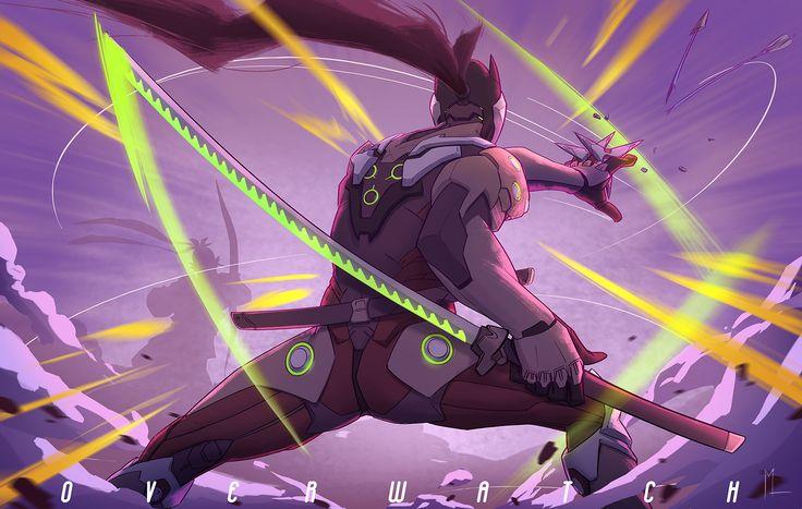 Vídeo Game Overwatch  Genji (Overwatch) Papel de Parede