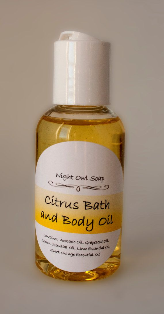Bath and Body Oil Dry Oil Skin Oil by NightOwlSoap on Etsy