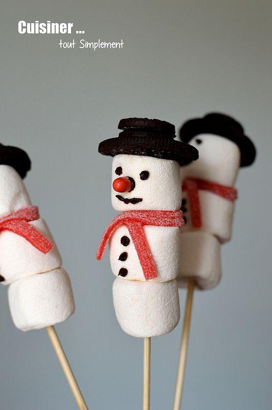 Des sucettes bonhomme de neige pour vos cadeaux gourmands
