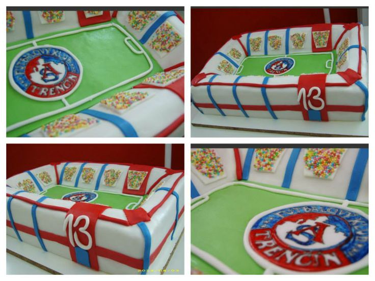 futbalová narodeninová  5 kg torta, plnka: orechová