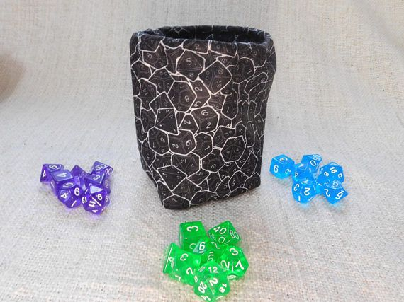 Dungeons and Dragons dice bag with extra dice set pathfinder