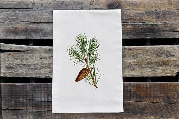 Check out this item in my Etsy shop https://www.etsy.com/ca/listing/567772587/pine-branch-tea-towel