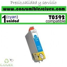 CARTUCHO COMPATIBLE EPSON T0592 CYAN