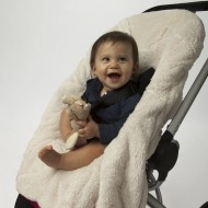 Papoose: Opens up for easy access and used a stroller or car-seat liner.
