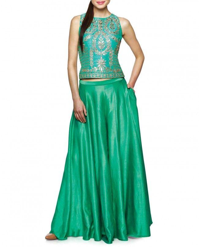 Green Body Fit Lehenga - Anita Dongre - Designers