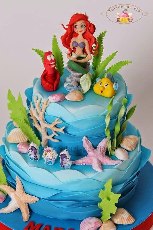 Torturi viorica 39 s cakes printesa ariel pentru mara for Ariel cakes decoration