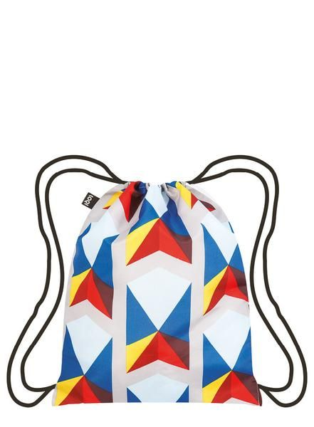 #Backpack# Rucksack# Sac à dos# Mochila# A tapestry of 3D triangles. A symphony of striking stripes. A cadence of colorful cubes. Streams of solid spots. Vibrate along to the vivacious tones of the GEOMETRIC collection by All the Fruits.
