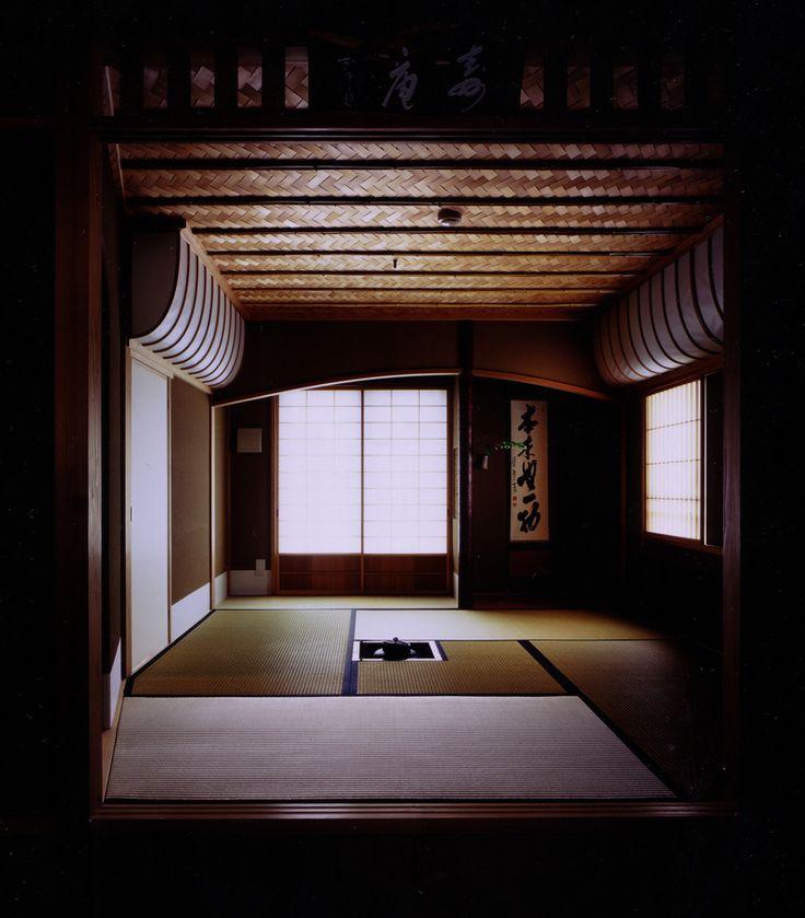 日本家屋、茶室、畳、掛け軸/Tea-room