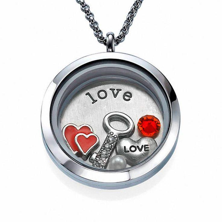 Acero inoxidable pendientes grabado corazón amor Love Forever regalo Rosegold