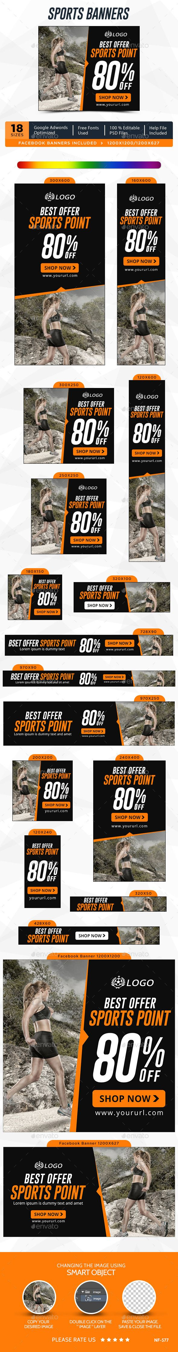 Sports Banners Template #design #ads #web Download: http://graphicriver.net/item/sports-banners/12482789?ref=ksioks