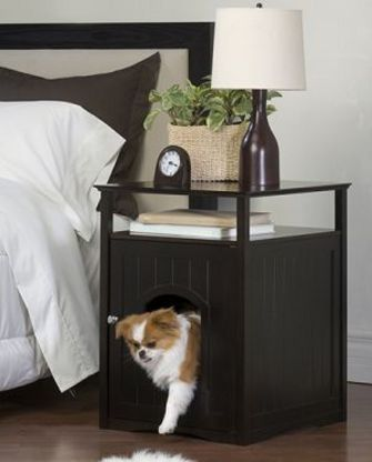 Dog Crate Night Stand. Ima do this for my puppy when we get one