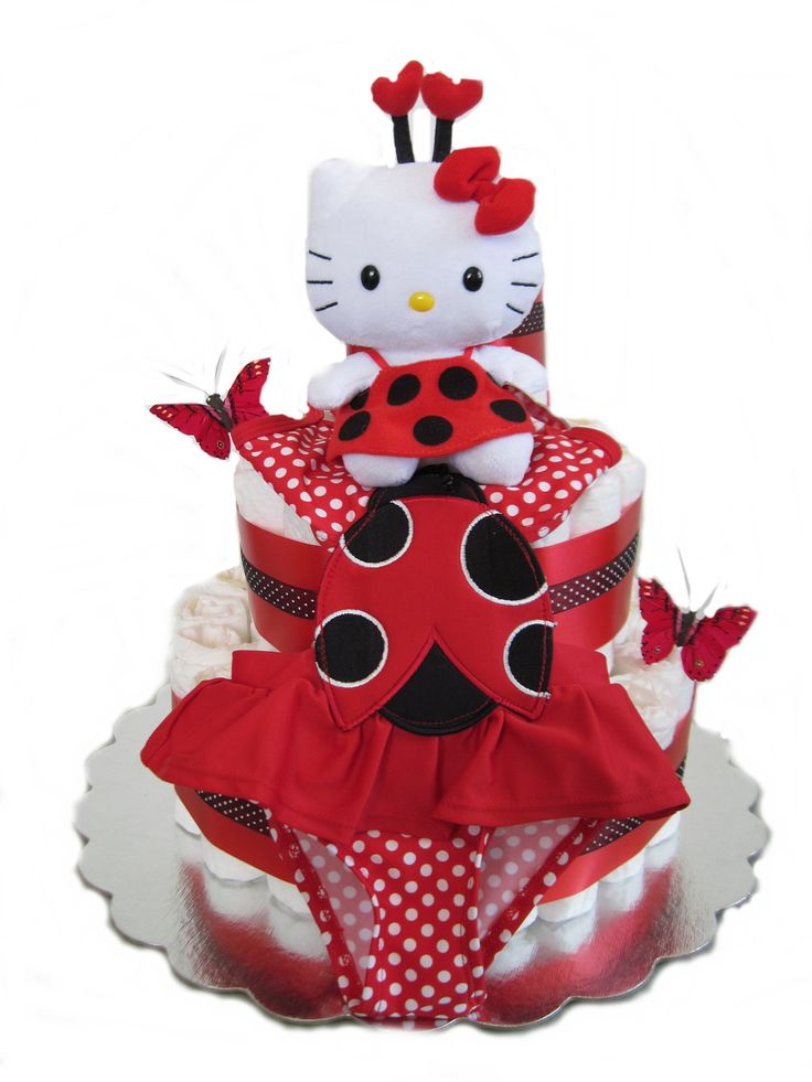 17 Best Images About Hello Kitty Diaper Cakes On Pinterest