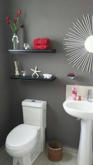 Ideas para decorar tu baño de visitas (23) | Curso de organizacion de hogar aprenda a ser organizado en poco tiempo
