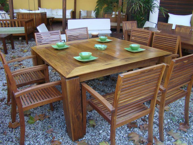 21 best images about mesas de madera para exterior on pinterest mesas santiago and capri - Mesas de exterior de madera ...