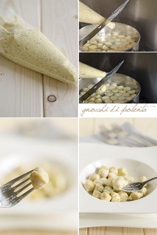 Gnocchi di farina di mais, precisamente con avanzi di polenta e conditi con il gorgonzola