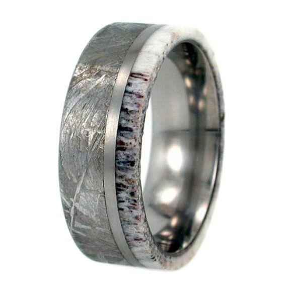 Op verkoop meteoriet Ring gewei Ring Gibeon door jewelrybyjohan