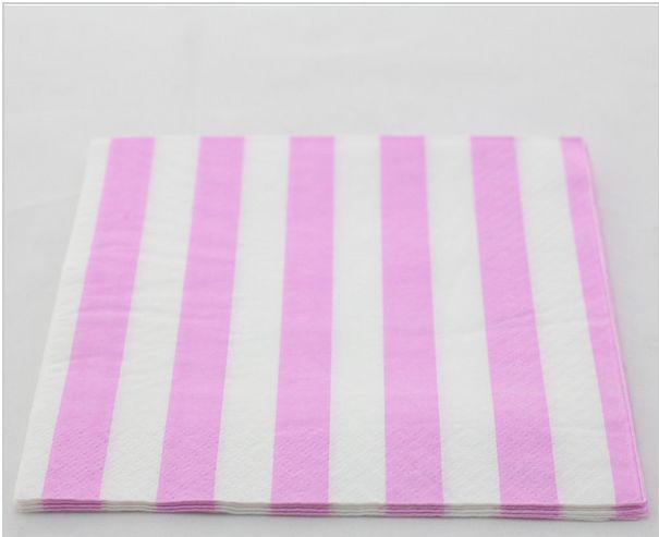 sweet pink wedding napkins różowe papierowe serwetki ślubne kolorowo wesele