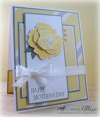 Dotty for You card - Allisa Chilton    love the gray & yellow color combo