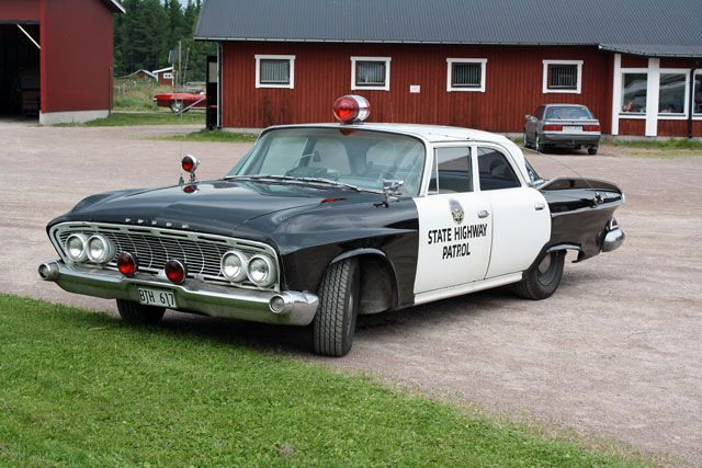 Vintage State Highway Patrol car