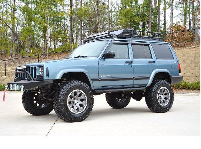 1999 Jeep cherokee sport.  https://www.pinterest.com/dapoirier/4x4-and-trucks/
