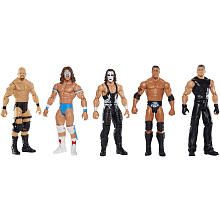 WWE Network Spotlight 5 Pack Action Figure  Stone Cold Steve Austin, Mr Mc Mahon, Sting, The Rock and Ultimate Warrior