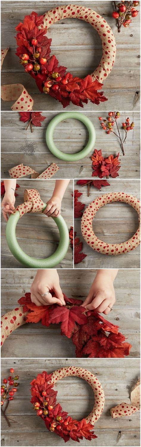 Wreath 'Em Breathless A Polka Dot Fall Wreath DIY Diy