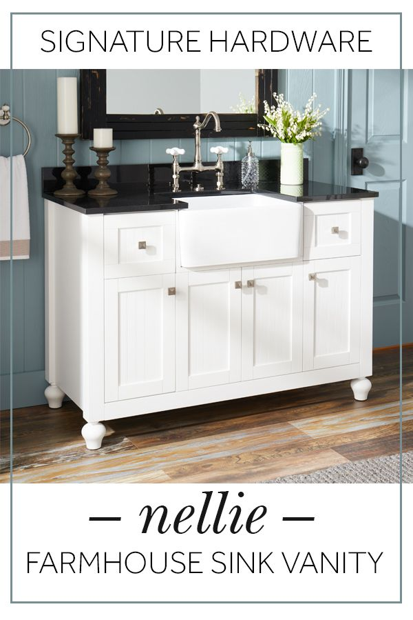 Extend The Farmhouse Sink Trend From Your Kitchen To Your Bathroom
