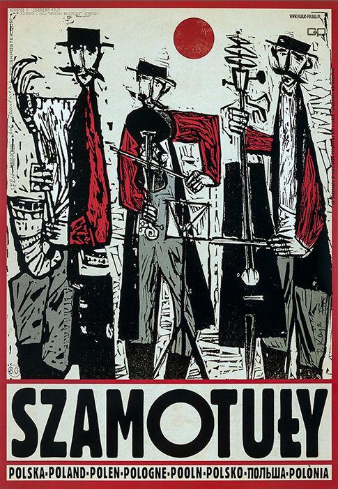 Polish Travel Poster by Ryszard Kaja (b. 1962), 2013, Szamotuły. (Town in Poland, in Greater Poland Voivodeship)