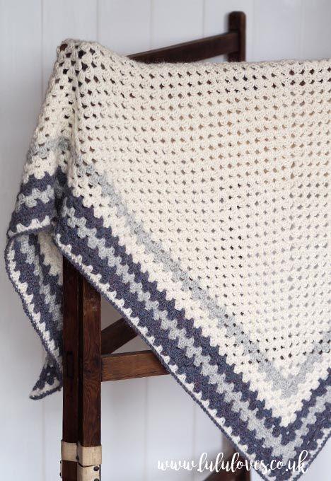 Lululoves: Crochet Granny Shawl Tutorial