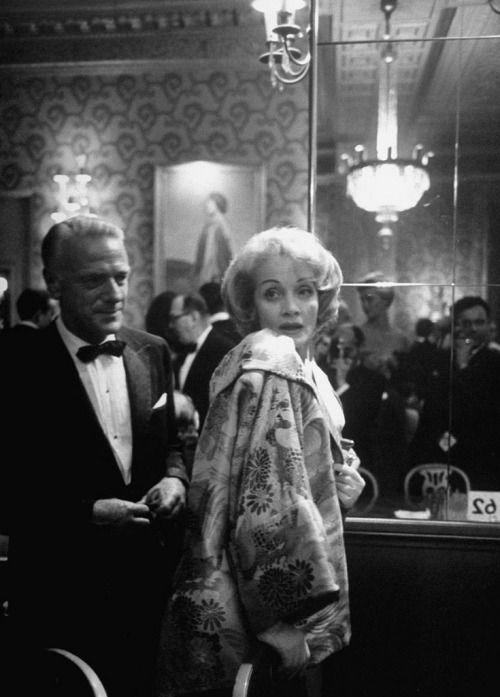 Marlene Dietrich in the Louis Sherry Bar at the Metropolitan Opera, New York, 1962. Photo by Alfred Eisenstaedt.