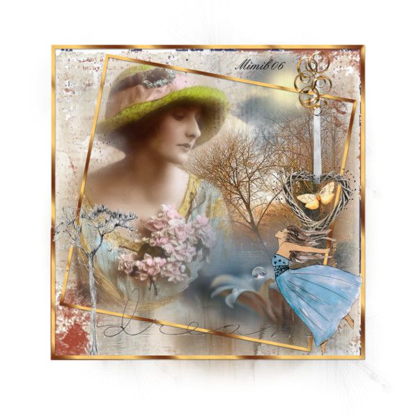 """vintage portrait"" by mimib06 on Polyvore"