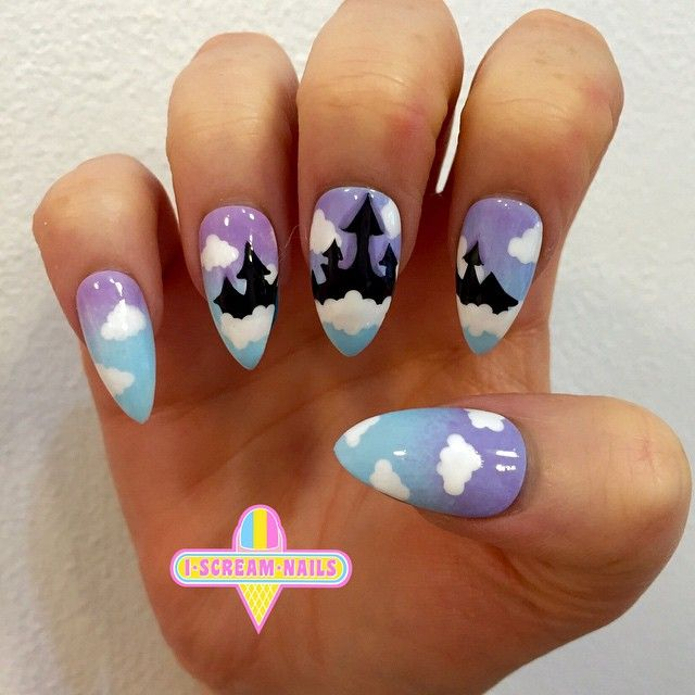 14 best junk food nail art images on pinterest beauty nails elise did these amazing disney castle nails for bookings pls email us sydneyiscreamnails prinsesfo Gallery