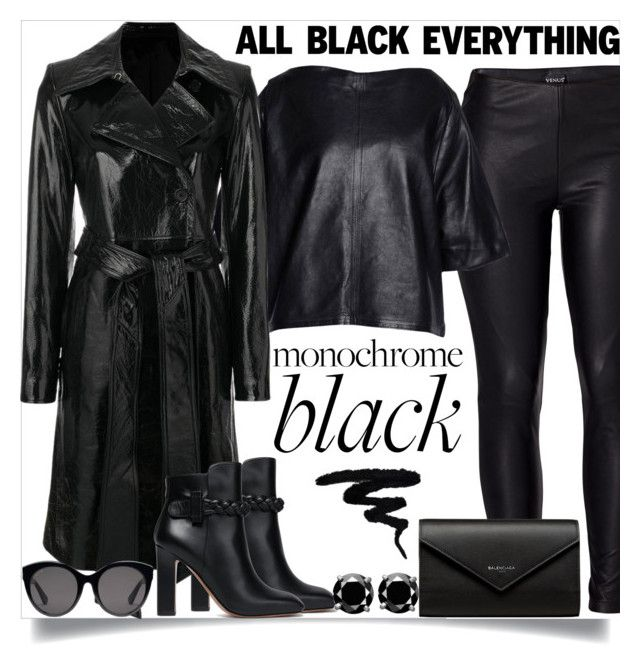 """""""All black"""" by pelagianath on Polyvore featuring Venus, Valentino, Isabel Marant, Helmut Lang, Balenciaga, Gucci and allblackoutfit"""