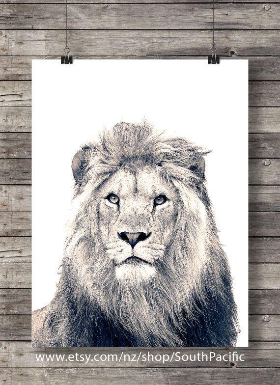 Lion Kunstdruck | Lion Gesicht | Sepia-Lion-Foto | Druckbare Wandkunst | Safari-Dekor | Dschungel Tiere Dekor | Afrikanische Tiere  2 kaufen 1