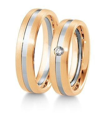 Breuning Trouwringen | Inspiration collectie gouden ringen | 5,5mm briljant 0.06ct verkrijgbaar in 8,14 en 18 karaat | 48041530 / 48041540 OOK in wit geel en rood goud verkrijgbaar of in 2 kleuren goud #trouwringen #breuning