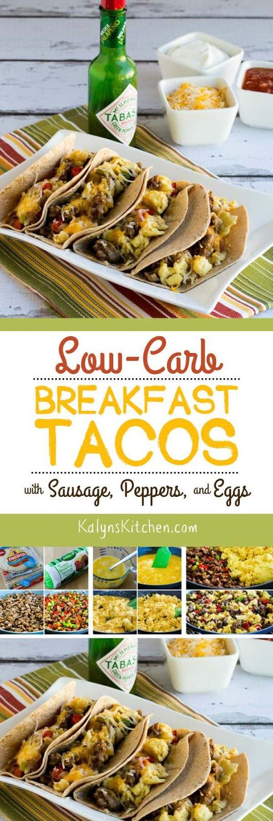Low-Carb Breakfast Tacos with Sausage, Peppers, and Eggs (Video)