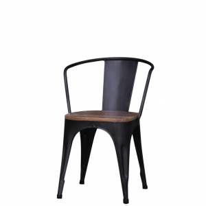 tolix model met hout zwart eur 99 gigameubel. Black Bedroom Furniture Sets. Home Design Ideas