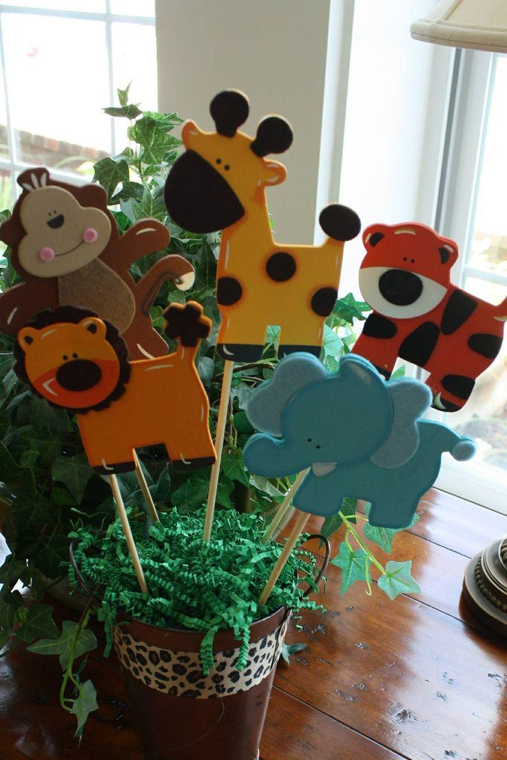 Safari Baby Shower Centerpieces