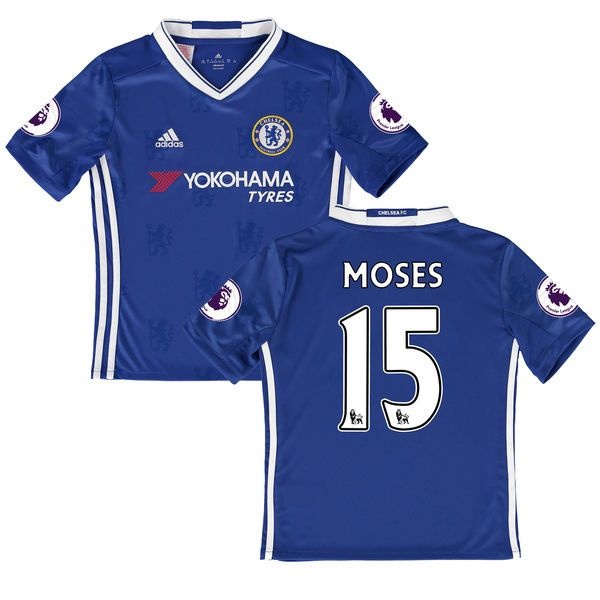 Victor Moses Chelsea Youth adidas 2016/17 Home Replica Jersey - Blue - $94.99