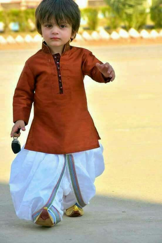 Little Boy in Indian traditional dress....