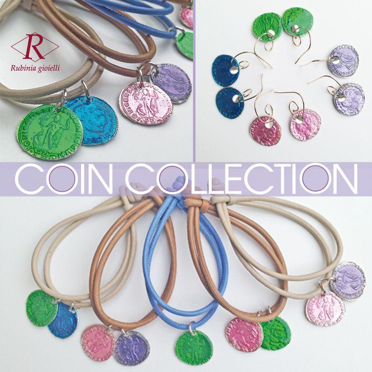 Colora le tue giornate con la nostra collezione di monete smaltate! Gioca con gli abbinamenti tra le monete e la nappa e osa con i colori questa estate! Coin Collection www.rubinia.com