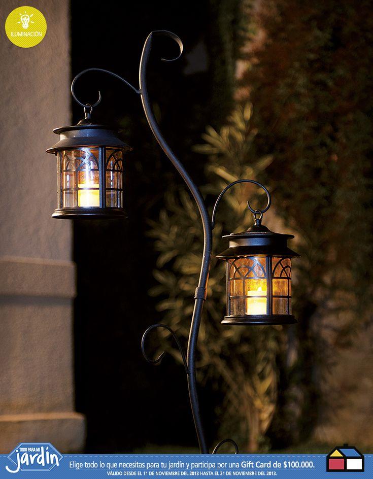 #Iluminacion #Jardin unos lindos farolillos para las tardes.de verano