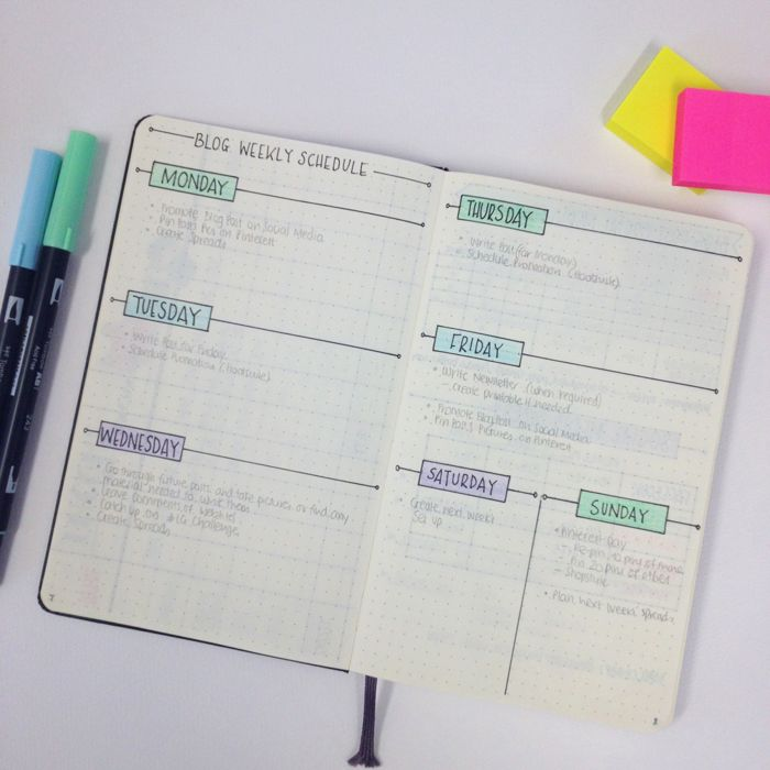 Showing you around my blogging bullet journal - www.christina77st...