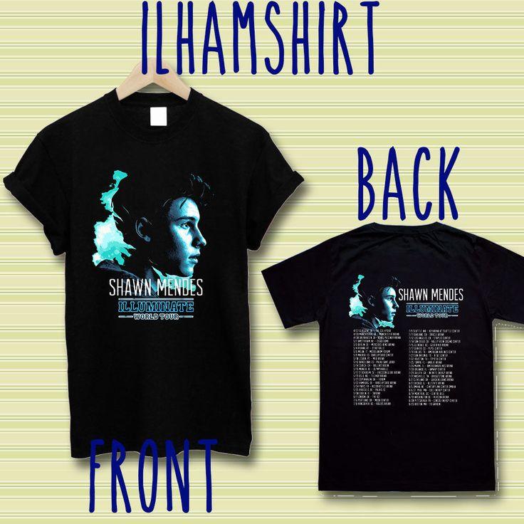 shawn mendes illuminate us tour dates concert handwritten shirt t-shirt S-2XL te #unbranded #BasicTee
