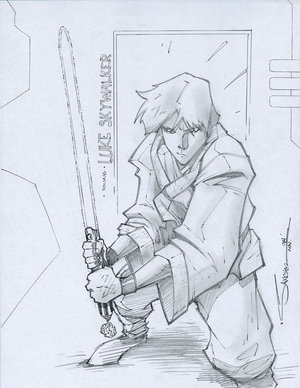 Cool Luke Skywalker Star Wasr Art