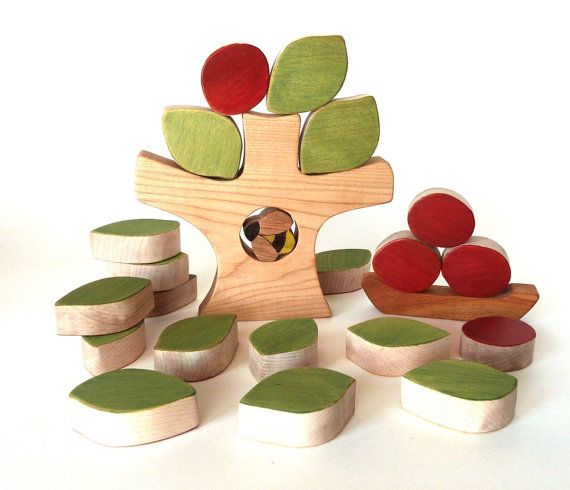 Apple tree wooden puzzle wooden toy balancing by AtelierSaintCerf